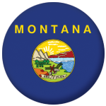 Montana State Flag 58mm Mirror Keyring